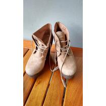 Zapatos/botinas Altos De Mujer Muy Lindos Exc.estado! T 38