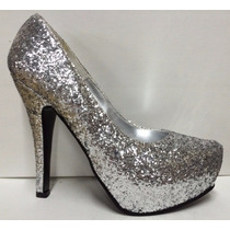 Zapato Stiletto De Glitters