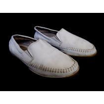 Zapatos Nauticos De Hombres Marca Storkman Num 44 Blancos