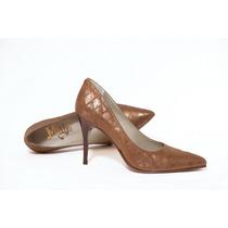 Stiletos Clásicos Color Bronce De Mule Zapatos De Colección