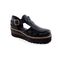 Zapatos Sandalias Mujer Verano Cuero Charol Magali Shoes