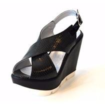 Zapatos Cuero Mujer Sandalia Plataforma