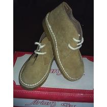 Zapatos De Gamuza, Con Suela De Goma . Nuevos. Numero 34.