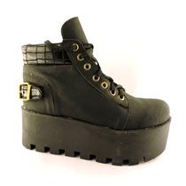 Borcegos Kate Kuba Bota Botineta Plataforma Zapato Taco Alto