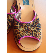 Elegantes Chinelitas De Leopardo Talle 37