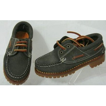 Woodland Zapatos Nauticos 30 Cuero Vacuno Verde (ana.mar)