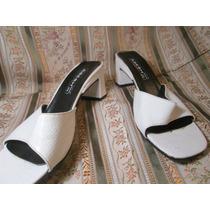 Sandalia Tipo Sueco Color Blanco Abesch Talle 38