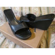 Sandalia De Taco Alto Color Negro Talle 38