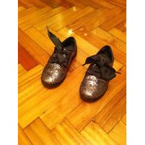 Zapatos De Nena Gap Brillosos Abotinados Casi Nuevos!!!
