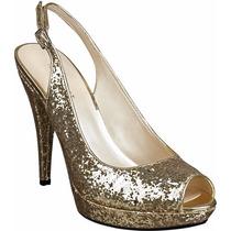 Zapatos De Fiesta Dorados (sin Uso, A Estrenar)