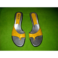 Sandalias Amarillas Taco Chino Numero 40 Acepto Mercado Pago