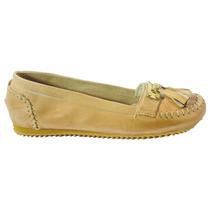 Chatitas Con Chapa Y Flecos - Tops Zapatos Verano