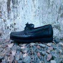 Zapatos Colegiales Cuero Costura A Mano Uniforme Mocasín
