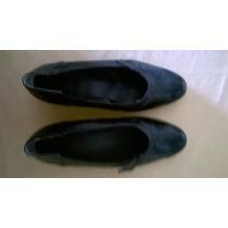 Par De Zapatos Para Señora Elegante. 100% Cuero Vacuno