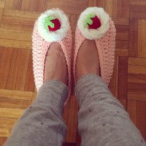 Pantuflas De Cupcake Tejidas A Crochet