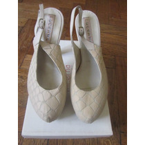 Zapatos Stiletto Plataforma Oculta Lucerna Color Natural 40