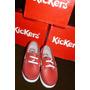 Kickers Nauticos Rojos Nro 25 18 Cm Suela 16 Cm Plantilla