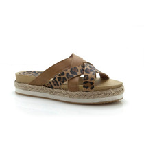 Sandalia Cuero Leopardo Heyas Sema - Araquina Oficial