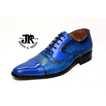 Zapato Alta Gama - Jr Boots & Shoes - Art. 1322 Charol Azul