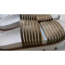 Sandalias Verano 2016 Modelo Deseo Dorado Con Tira Elastica