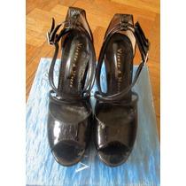 Sandalias Negras Viento Y Marea Taco Yplataforma Nº 37y 40
