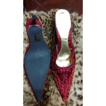 Zapatos Importados , En Tela Con Bordados De Canutillos