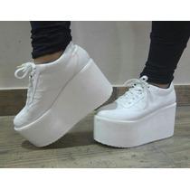 Sneakers Zapatillas Altas Acordonados Nueva Coleccion