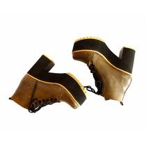 Botitas Borcegos Zapatos Mujer Botas Bajas Cortas Plataforma