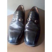 Zapatos Mocasín De Cuero Hombre N° 41 Taco Alto 4.5cm