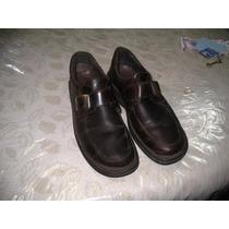 Zapatos Stork Man Hombre Cerrados T 43 Marrones Suela Goma