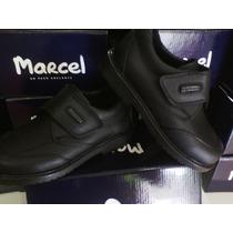 Zapatos Colegial Marcel Cuero100%abrojo Varón Confort 34/40