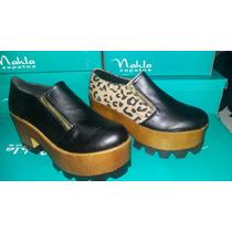 Zapato Mujer Plataforma Suela Tractor Palermo Soho