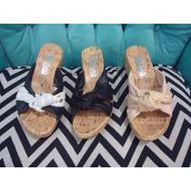 Sandalia Sueco Cuero Plataforma Corcho Chino Zapato Mujer