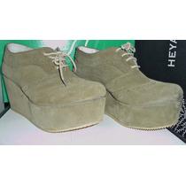 Zapato Acordonado Con Plataforma