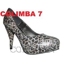Viamo Zapatos Stilettos Mod. Tala Cuero Nuevos N°38 T/alto