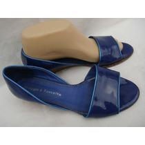 Maggio&rossetto Zapato 37 Cuero Charol Azul Francia (ana.mar