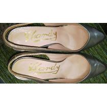 Zapatos Hardy De Vestir Plateados Nº36-solo Tienen 1 Puesta