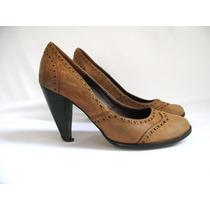 Zapatos Mujer Stilettos Cuero Suela Viento Y Marea N° 37