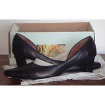 Zapatos De Cuero Lady Stork Talle 40