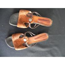 Sandalias Bajas Cuero Carpincho -39