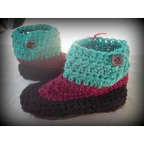 Pantuflas Tejidas A Mano Al Crochet Para Niños