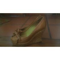 Zapatos Boca De Pez Taco Chino Simil Mimbre- Renzo Rainero