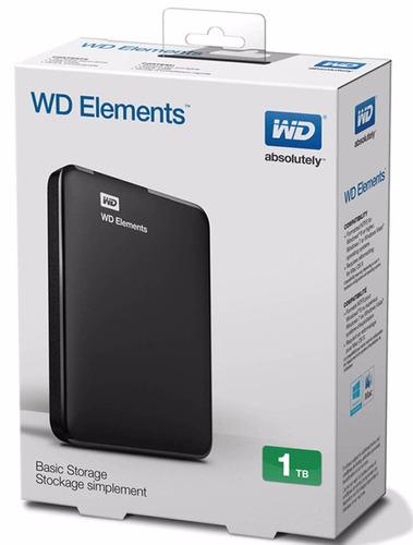 Disco Rígido Externo Portátil Wd Elements Seagat 1tb Usb 3.0