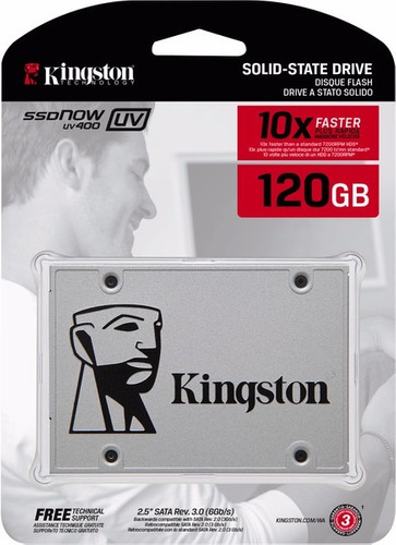 Disco Solido Kingston Uv400 Ssd 120gb Sata 3 Pc Notebook 7mm