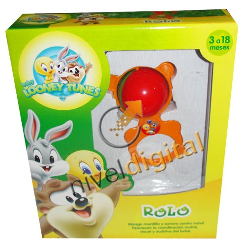 Sonajero Mordillo Rolo Looney Tunes Sonidos Para Bebes Caja