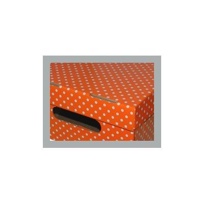 Caja plastificada bajo cama mega 54x40x15 lunares 74 8 for Cajas bajo cama carrefour