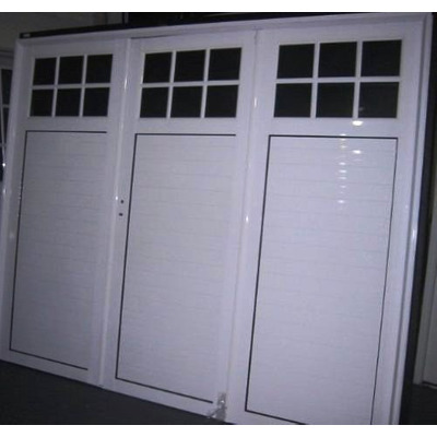 Porton garaje aluminio blanco 240x200 tecnooeste fabrica for Aberturas de aluminio blanco precios rosario