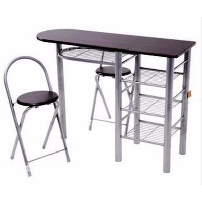 Desayunador mesa auxiliar comedor cocina 2 sillas for Sillas plegables para comedor