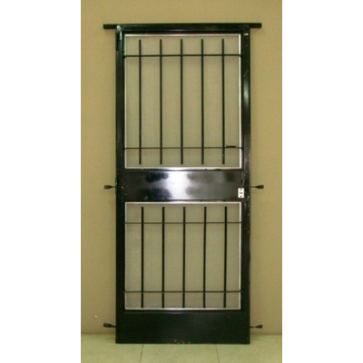 Puerta reja seguridad marco y mosquitero 80x200 oferta for Como hacer una puerta de metal