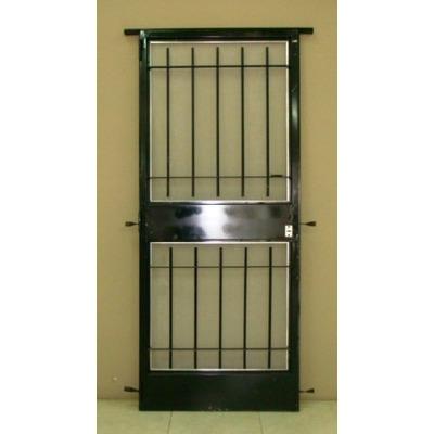 Puerta reja seguridad marco y mosquitero 80x200 oferta for Modelos de puertas de metal